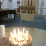 Candles of prayer and remembrance
